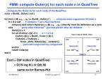 fmm compute outer n for each node n in quadtree