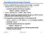 gravitational electrostatic potential1