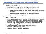 minimizing communication in n body problem