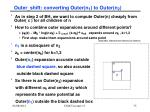 outer shift converting outer n 1 to outer n 2
