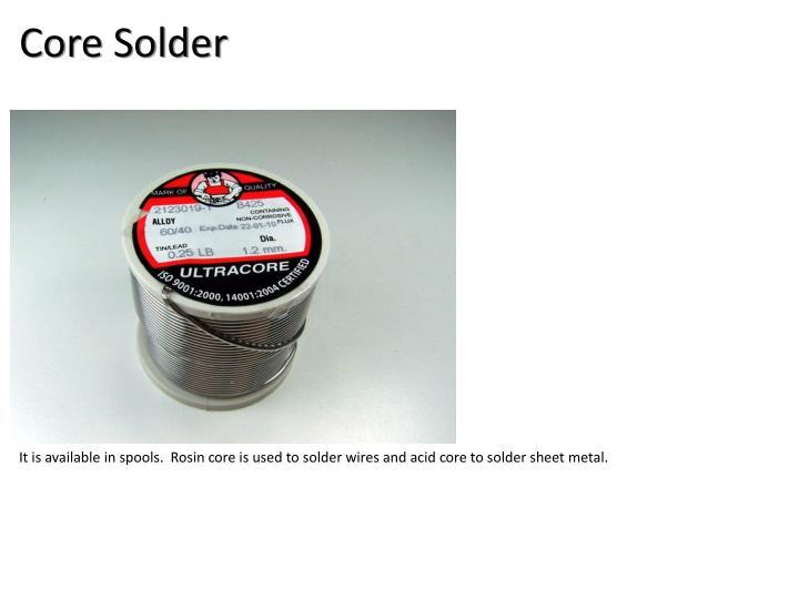 Core Solder
