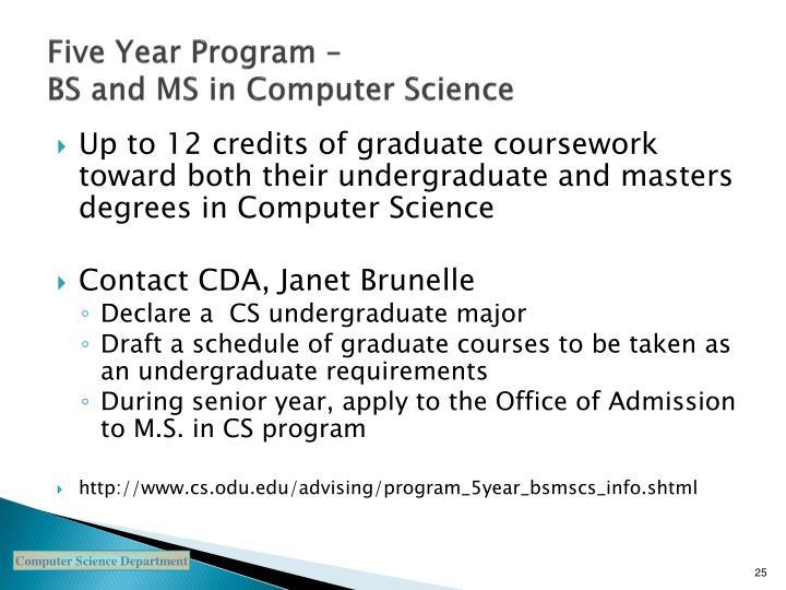 Five Year Program –