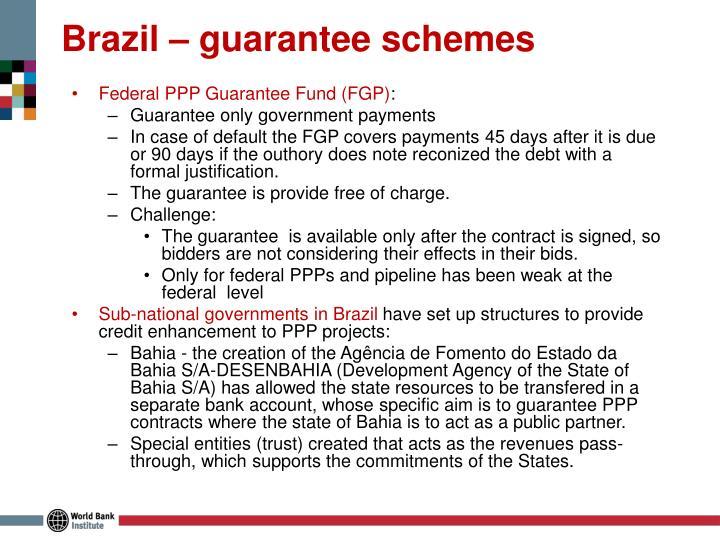 Brazil – guarantee schemes