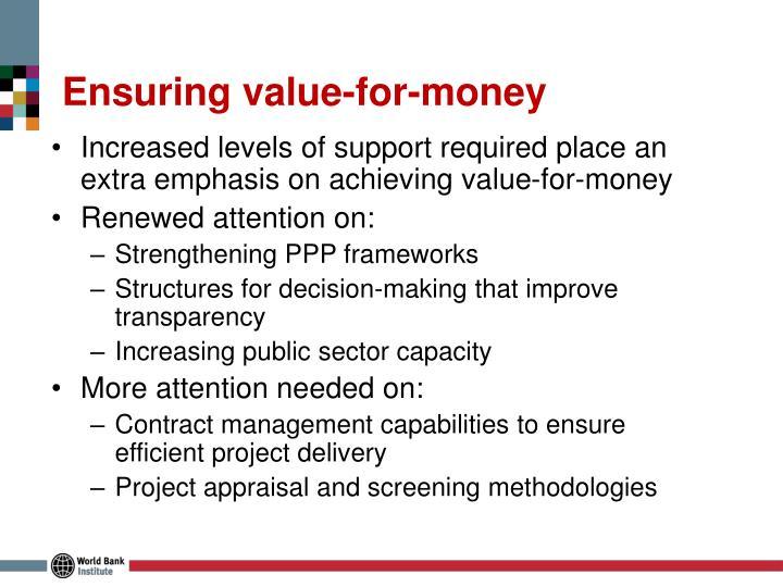 Ensuring value-for-money