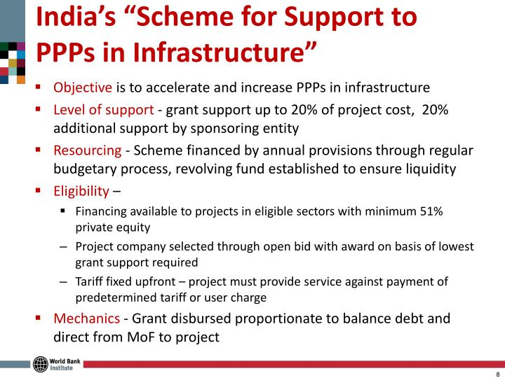 """India's """"Scheme for Support to PPPs in Infrastructure"""""""