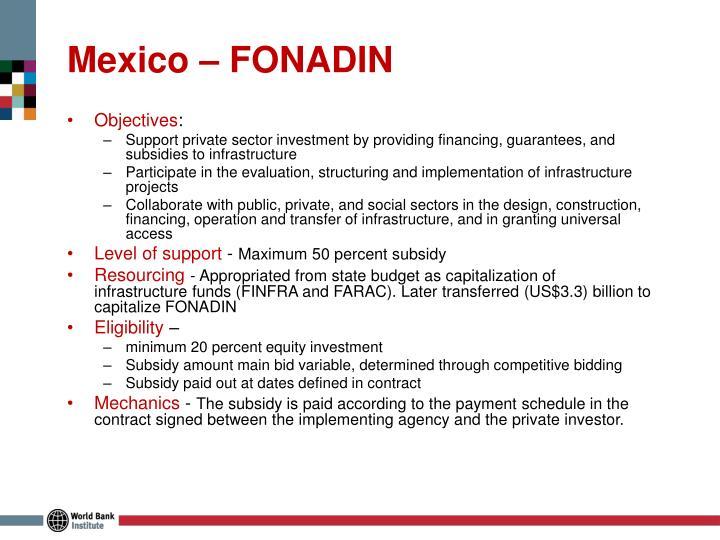 Mexico – FONADIN