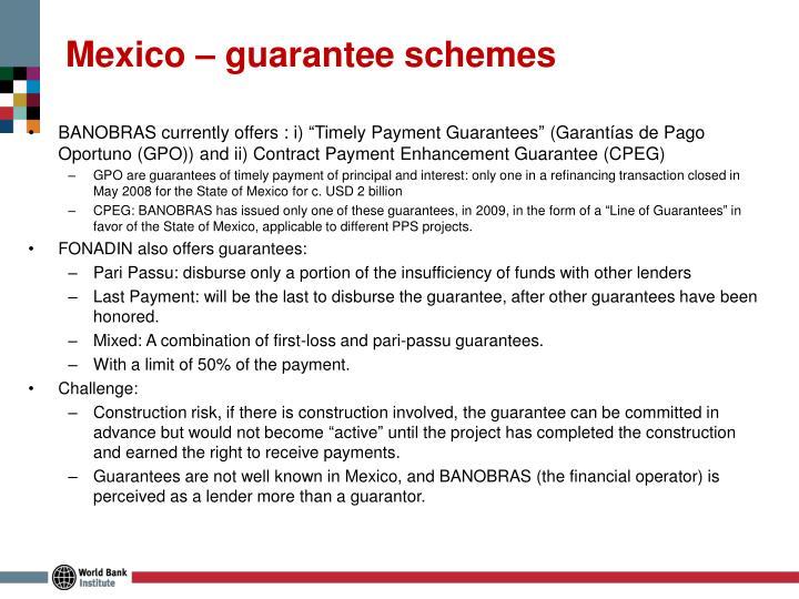 Mexico – guarantee schemes