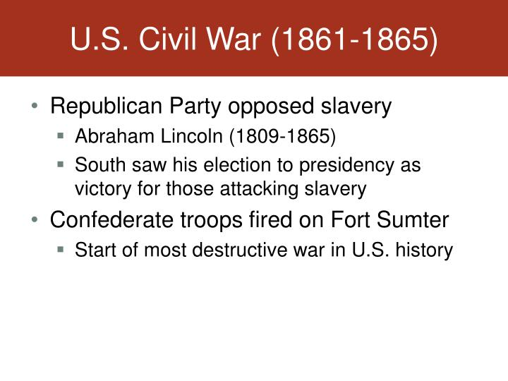 U.S. Civil War (1861-1865)