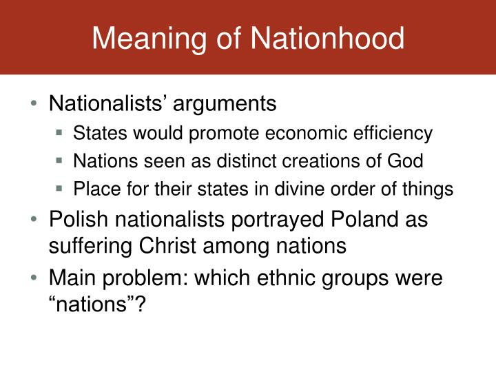 Meaning of Nationhood