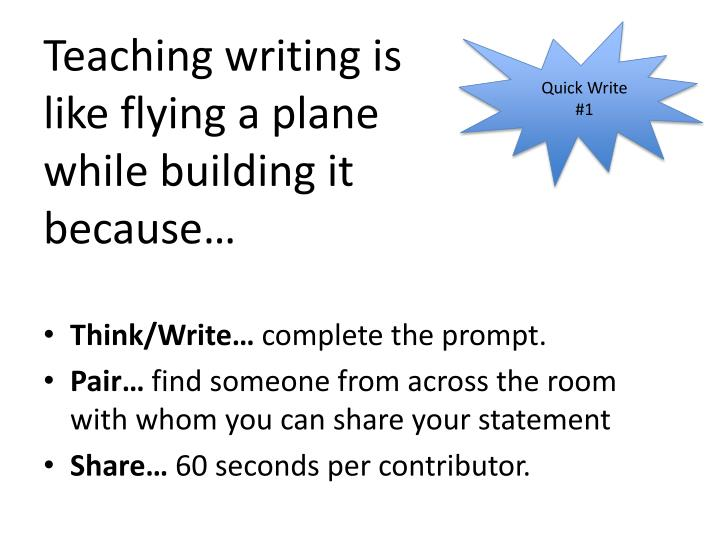 Teaching writing is