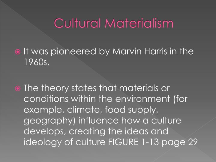 cultural materialism examples