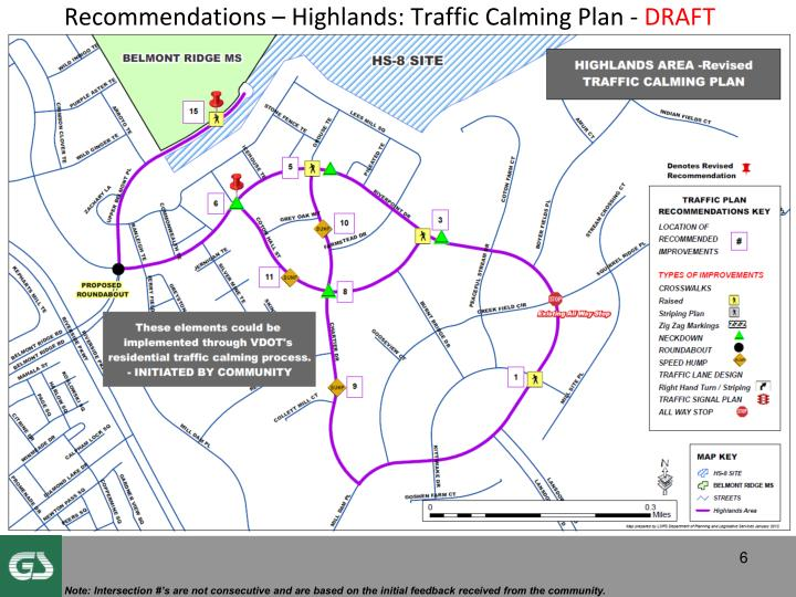 Recommendations – Highlands: Traffic Calming Plan -