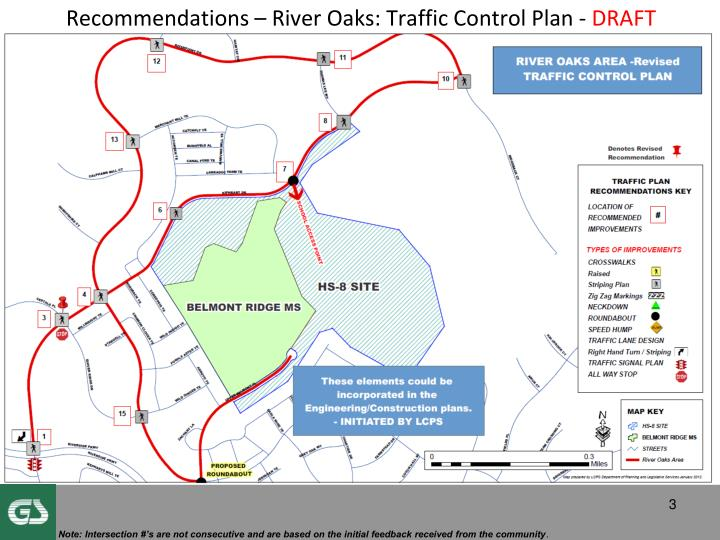 Recommendations river oaks traffic control plan draft