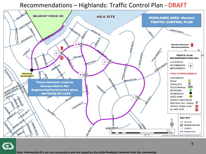 Recommendations – Highlands: Traffic Control Plan -