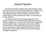 alaska pipeline