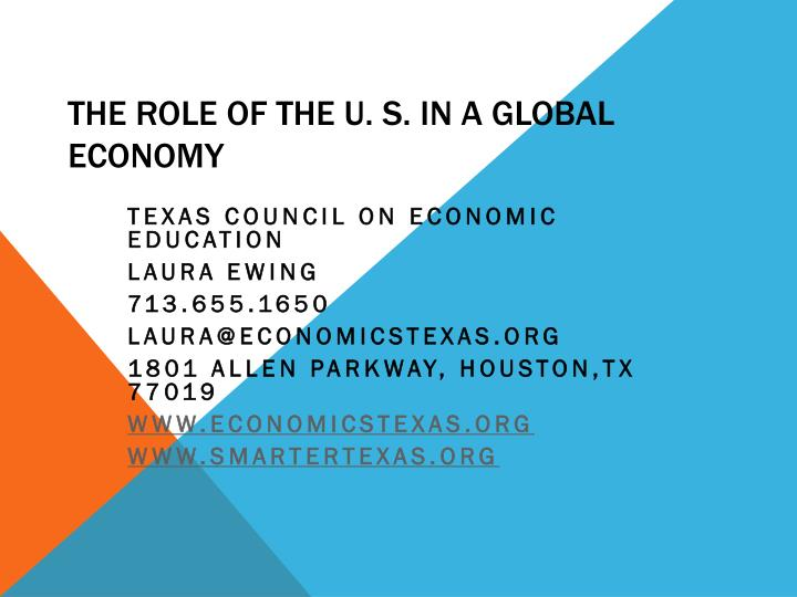 the role of the u s in a global economy n.