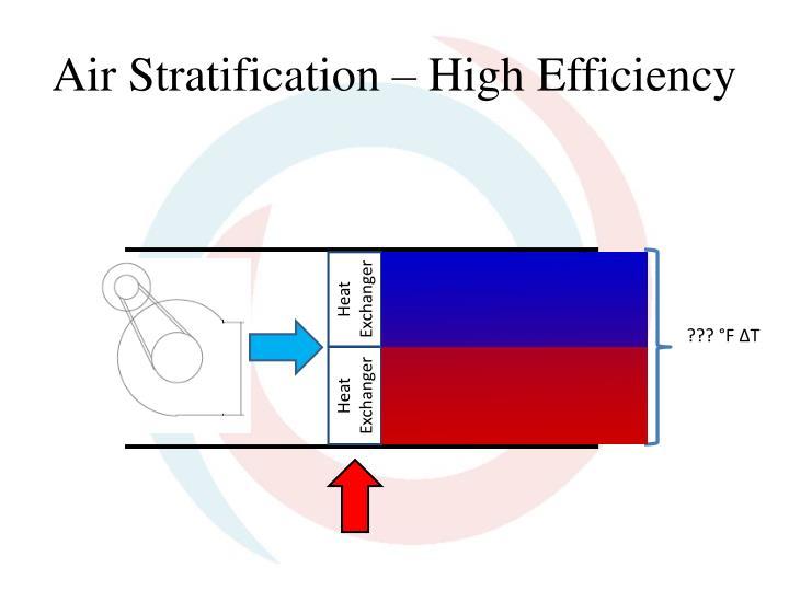 Air Stratification – High Efficiency