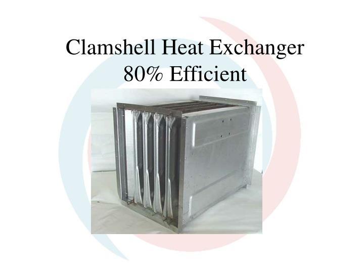 Clamshell heat exchanger 80 efficient