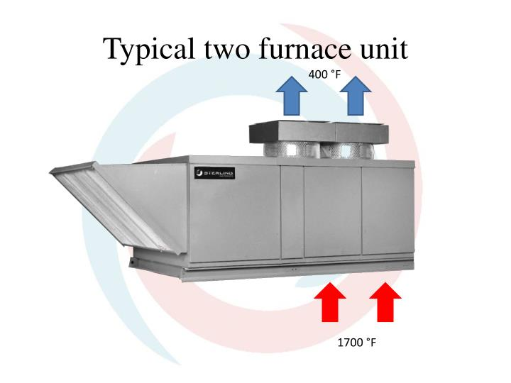 Typical two furnace unit