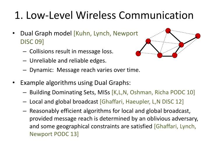 1. Low-Level Wireless Communication