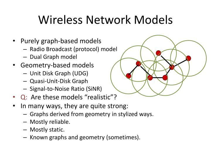 Wireless network models1