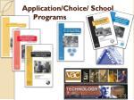 application choice school programs