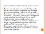 containment nurturance c n stage