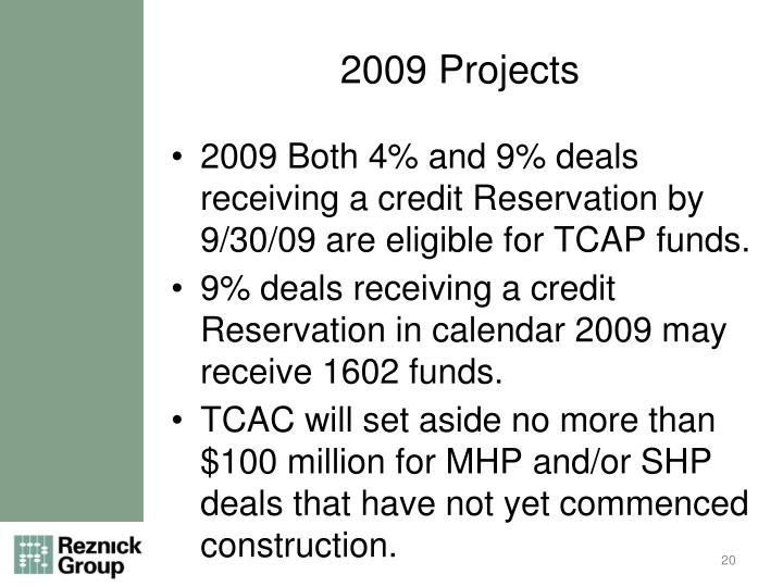 2009 Projects