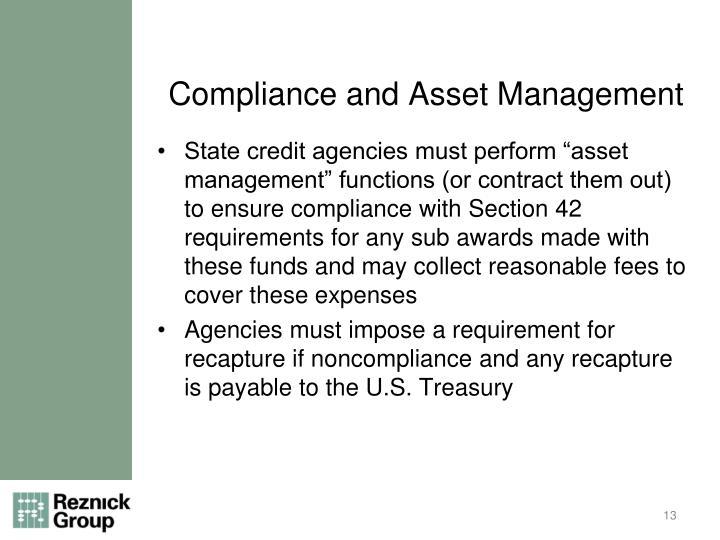 Compliance and Asset Management