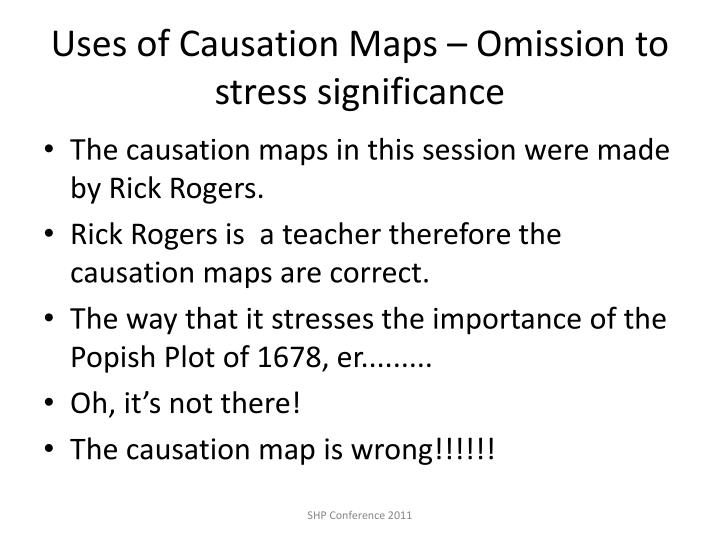 Uses of Causation Maps – Omission to stress significance