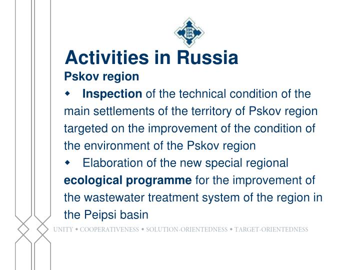 Activities in Russia
