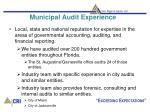 municipal audit experience