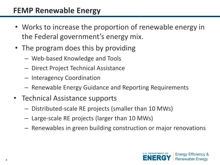 FEMP Renewable Energy