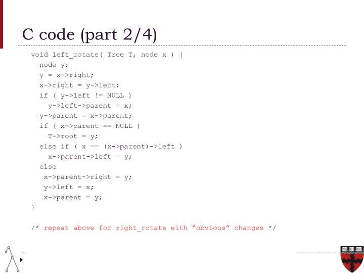 C code (part 2/4)
