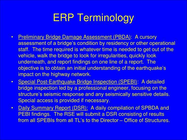 ERP Terminology