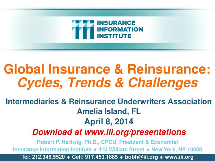 global insurance reinsurance cycles trends challenges n.