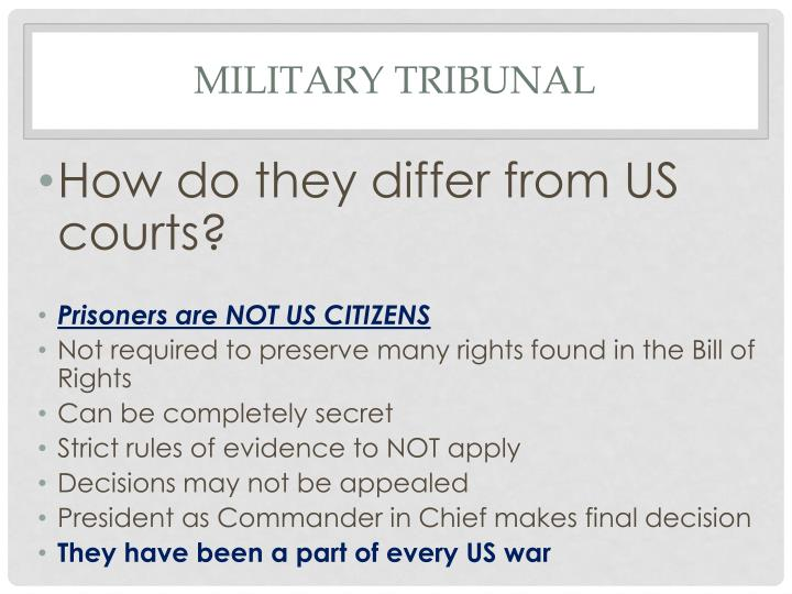 Military Tribunal