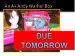 an a andy warhol box