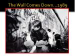the wall comes down 1989