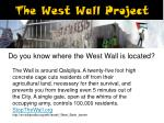 the west wall project