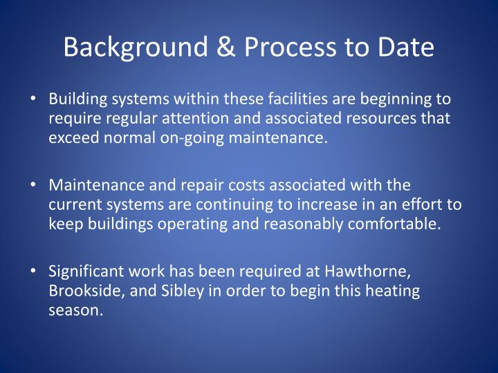 Background process to date1