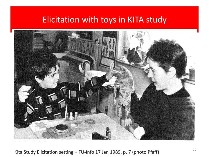 Elicitation with toys