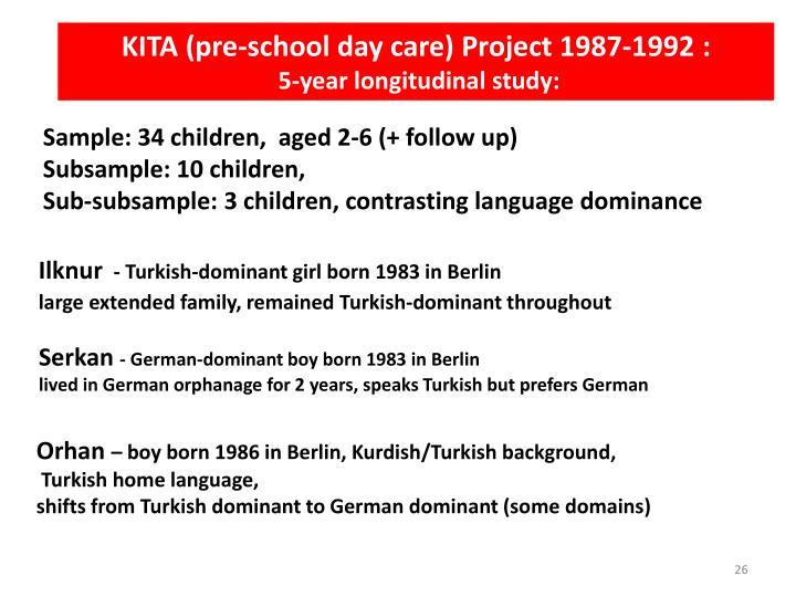 KITA (pre-school day care) Project