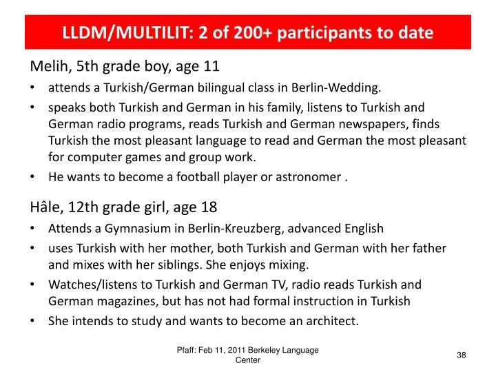 LLDM/MULTILIT: 2
