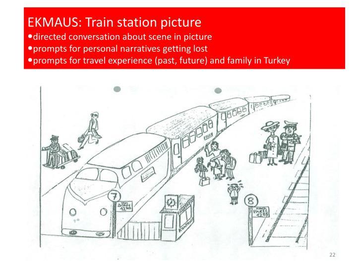EKMAUS: Train station picture