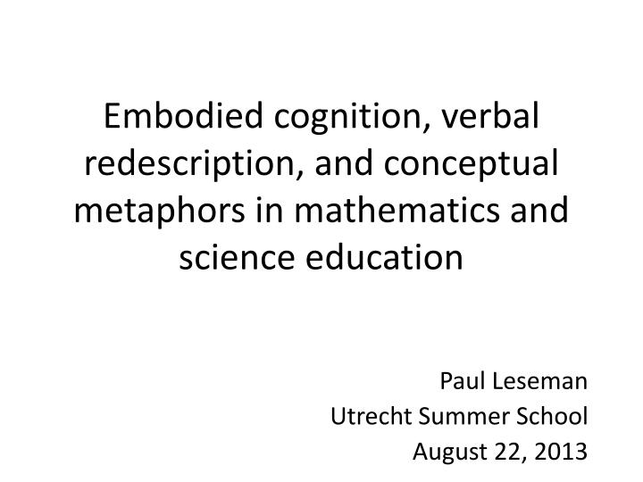 Embodied cognition, verbal