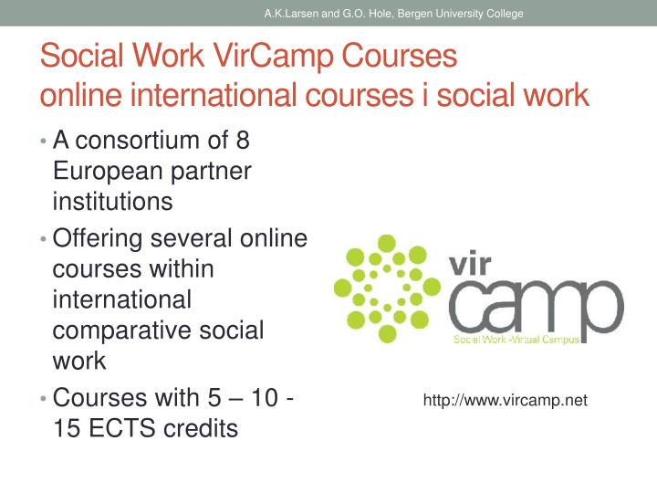 Social work vircamp courses online international courses i social work