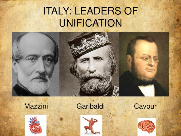 the italian unification mazzini cavour and Evaluate the relative importance of mazzini, cavour, and garibaldi for the italian unification between 1848 and 1871 in order to achieve the unification the italians had to go through a long struggle starting from 1830 and ending in 1871.