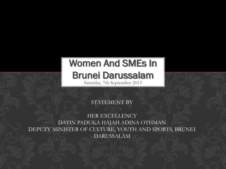 women and smes in brunei darussalam