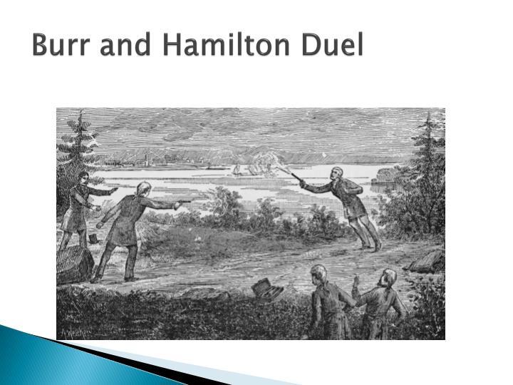Burr and Hamilton Duel